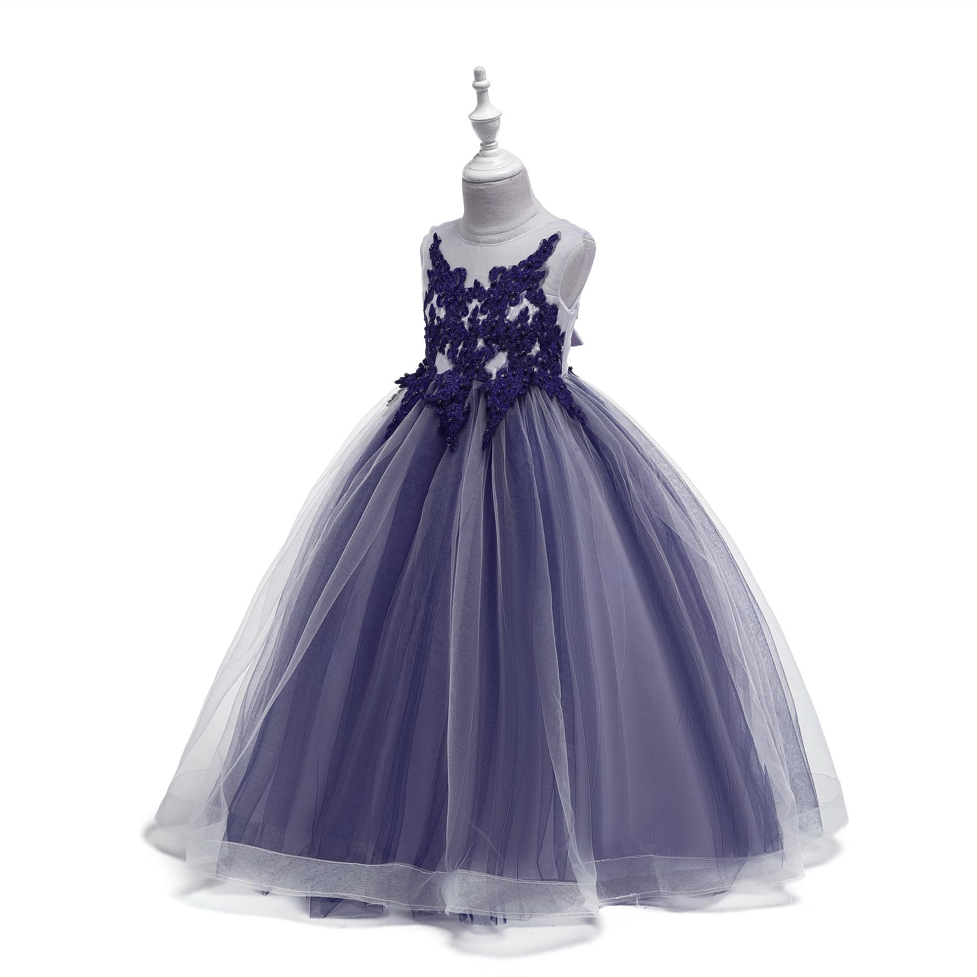 Hot Sales New Style Big Boy Wedding Dress Rose Princess Dress Girls Dress Performance Childrenswear