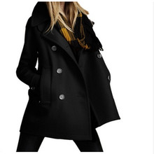 Fashion Coat Wool Blends Jacket Women Winter Coats Casual Outwear Overcoat Clothing Jackets Clothes 2019 New