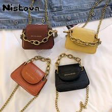 Borsa a tracolla da donna diagonale a catena in oro piccola borsa portatile mini borsa di marca di lusso borsa da donna in tinta unita PU 2021