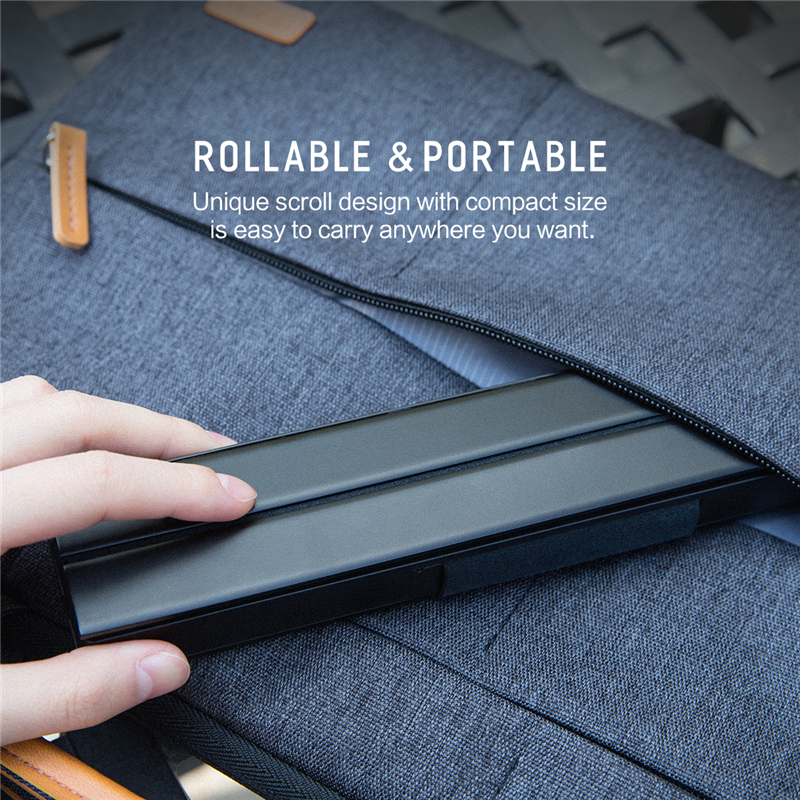 Foldable Bluetooth Keyboard for iPad Pro Mini Air Multi Function Rollable Bluetooth Keyboard for iPhone Quick to Switch in Keyboards from Computer Office
