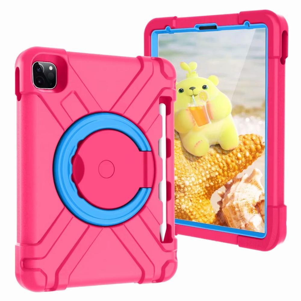 Rose-Blue Black High Duty for iPad Pro 11 2018 2020 Case Kids A1980 A2230 Shockproof EVA 360 Pencil