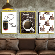 Canvas Prints Painting Vintage Europe Coffee Break Wall Art Pictures on Canvas For Restaurant Kitchen Nordic Poster Home Decor(China)
