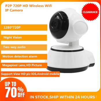 720P Wireless Network Webcams CCTV Smart Home Security IR Night Vision Motion Dection Dog Camera Support 64G TF Card Clearance