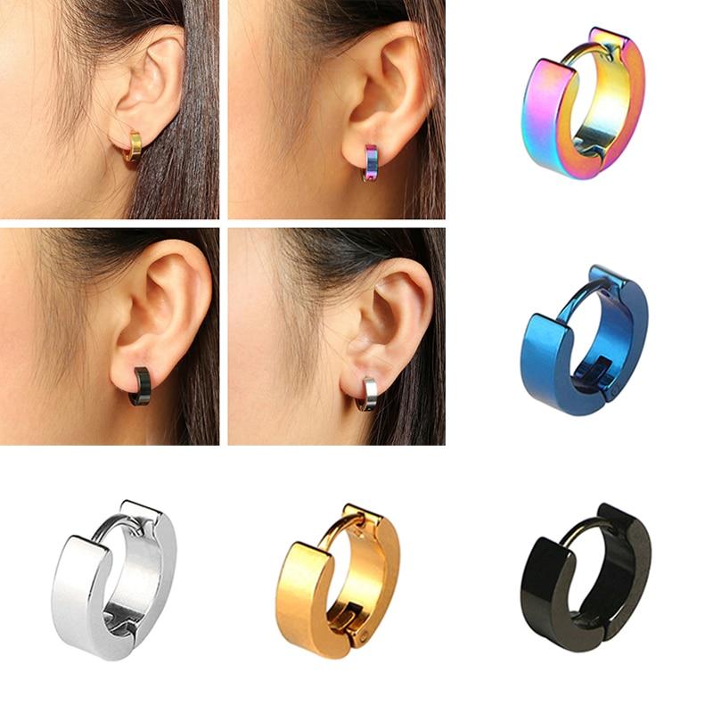 1 paar Bunte Ohrring Für Frauen Punk Rock Kreis Runde Stud Ohrringe Mode Männer Ohrring Mädchen Ohr Party Schmuck Geschenk