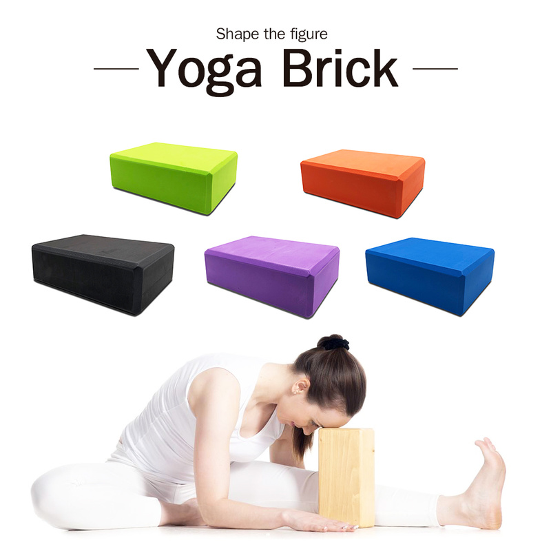 8 Colors EVA Yoga Block Brick 120g Sports Exercise Gym Foam Workout Stretching Aid Body Shaping Health Training Fitness Sets T