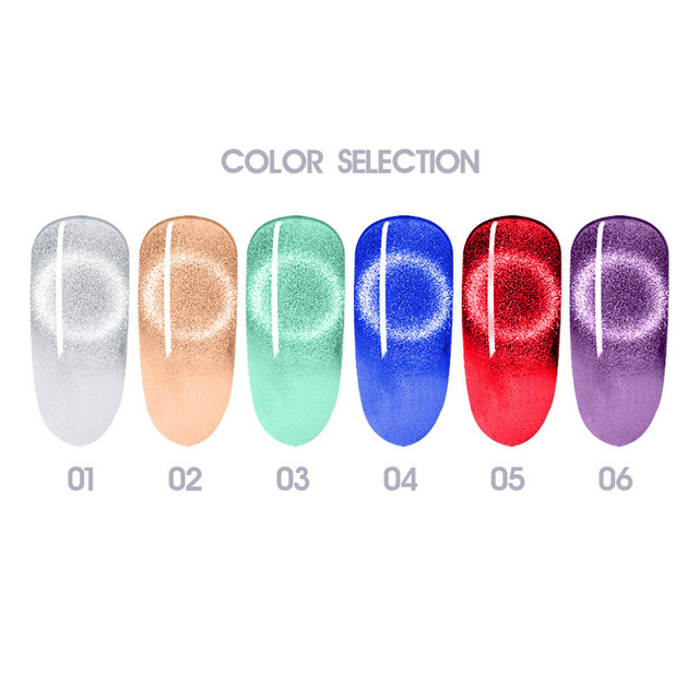 Beautilux 9D Platinum Cat Eye Gel Nail Polish Nails Art Design Magnetic UV LED Gels Varnish Semi Permanent Nail Lacquer 10ml