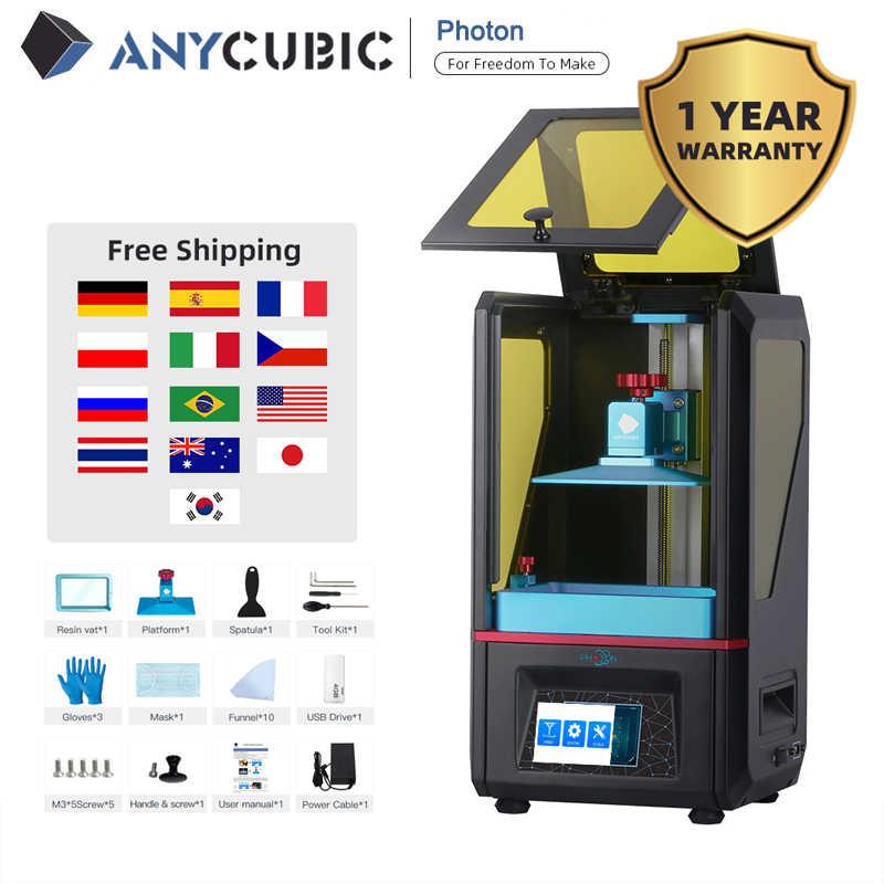 ANYCUBIC Photon Impresora 3D Pantalla LCD táctil UV Ultimate Slice Plus Size Desktop SLA 3D Impresora Kit Uv Resina impresora 3d Drucker impresora 3d led uv
