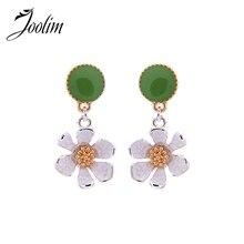 JOOLIM Jewelry Wholesale/Cute Pretty Flower Dangle Erring Design