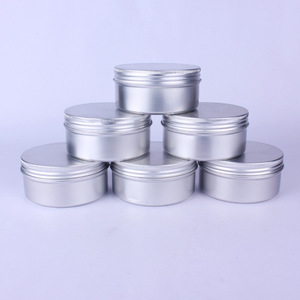 Image 1 - 20pcs 200g 200ml Empty Aluminum Cream Jar Tin Cosmetic Lip Balm Containers Nail Derocation Crafts Pot with Screw Thread