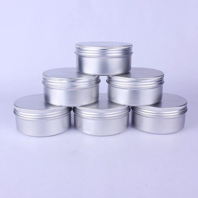 20pcs 200g 200ml Empty Aluminum Cream Jar Tin Cosmetic Lip Balm Containers Nail Derocation Crafts Pot with Screw Thread