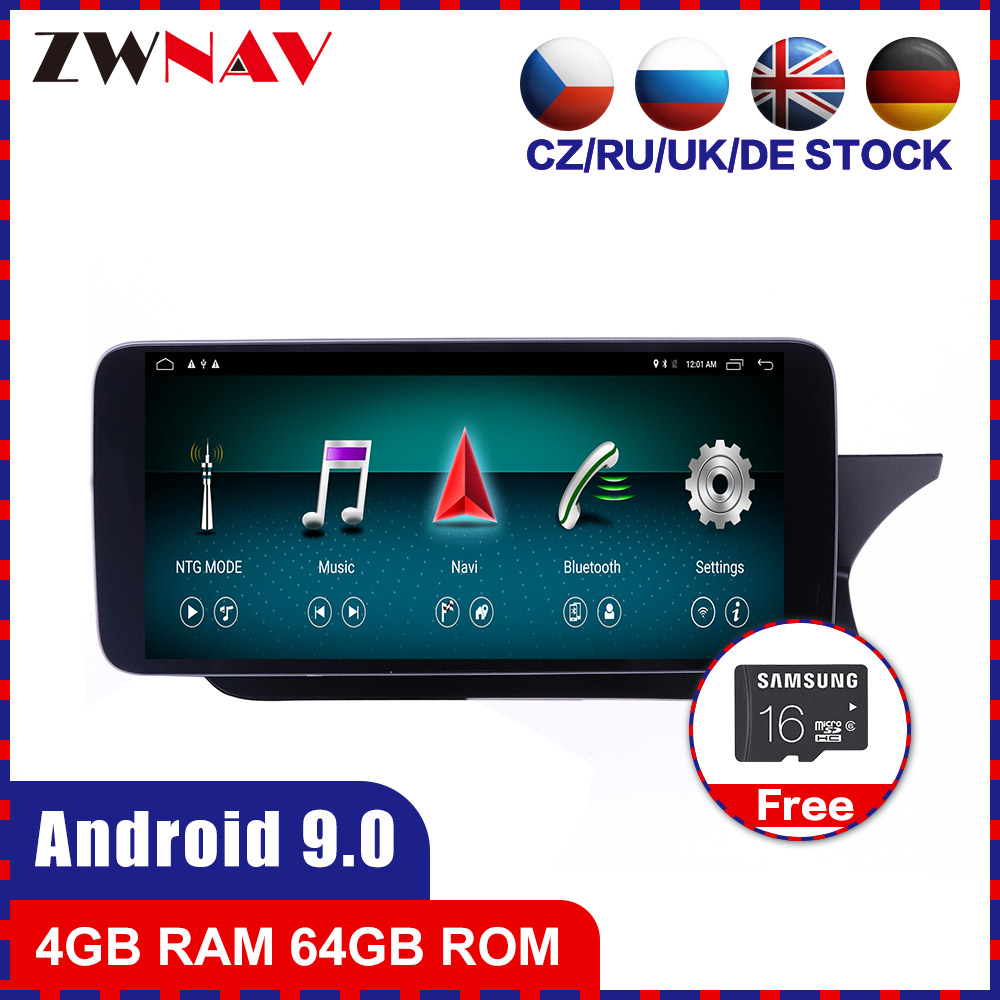 4+64G <font><b>Android</b></font> 10.0 Car multimedia Player GPS Glonass Navigation for MERCEDES-<font><b>BENZ</b></font> W204 2011-2014 Audio Radio stereo BT head unit image