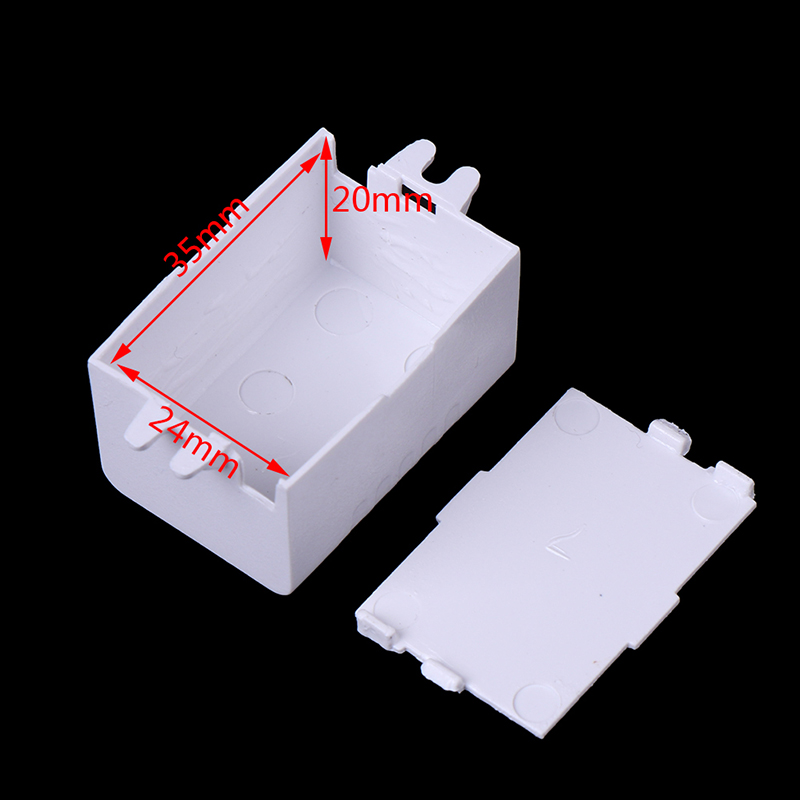 1pc Waterproof Plastic Electronic Enclosure Project Box Black Connector Wire Junction Boxes 65x38x22mm