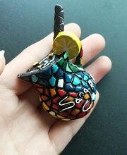 Frutas espanha Sangria Honeypot Lembranças Requintados 3D Estéreo Resina Geladeira ímãs decorativos