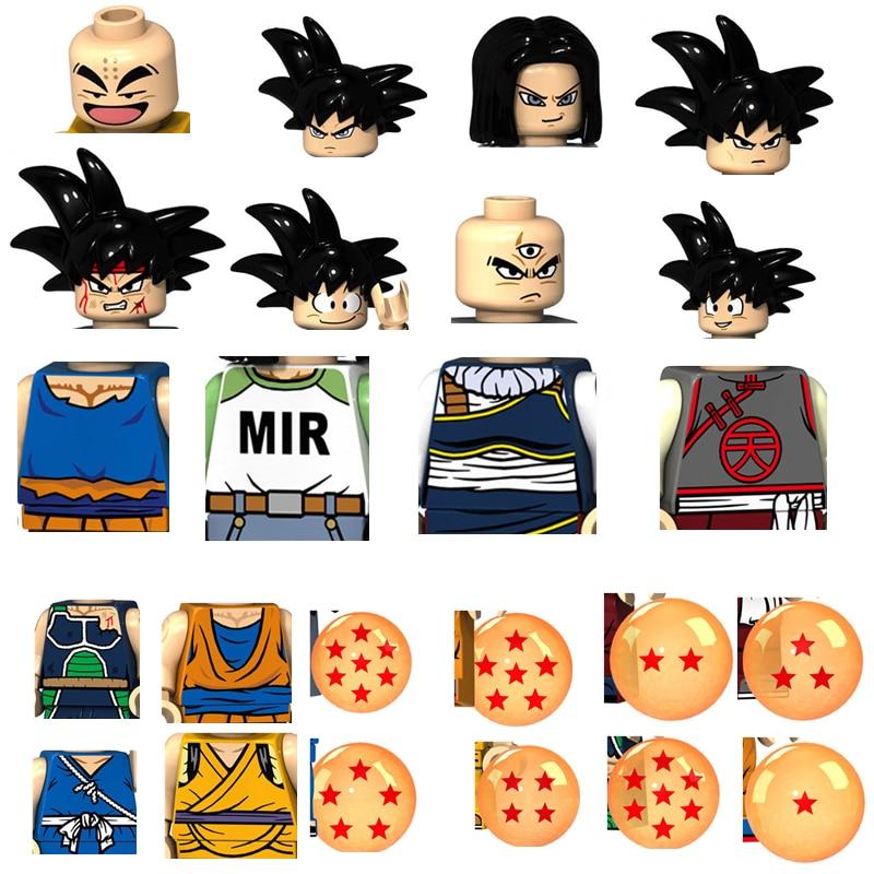 Bandai Dragoning Ball Z Goku Super SaiYanVegeta Gohan Figure Anime Building Blocks Bricks Toy For Kids
