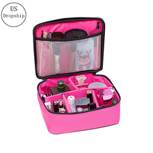 New Portable Travel Cosmetic Bag Multifunction Women Toiletries Organizer Makeup Bag Waterproof Female Storage Make Up Cases new women s floral cosmetic bag high capacity travel storage makeup bag portable washing bag toiletries organizer cases