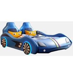 1.2M/1.5M/1.8M Auto Ontwerp Kinderen Bed Met Matras Top Layer Lederen Bed Kind thuis Slaapkamer Meubilair Voor Kinderen Gift