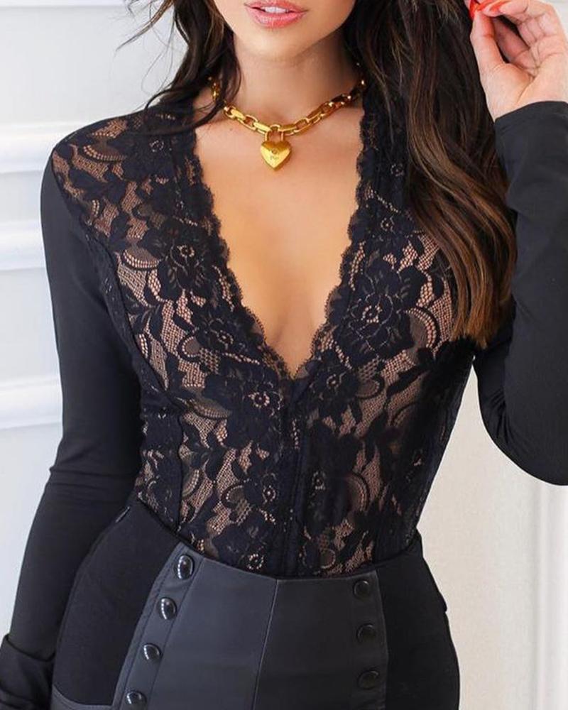 Body Sexy noir dentelle
