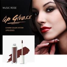 MUSIC ROSE 36Color Makeup Women Matte Lip Gloss Tubes Korean Liquid Lipstick Gift for Girl Moisturizer Comerstic