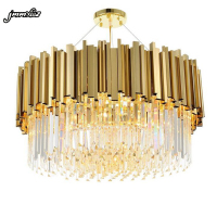 jmmxiuz new luxury crystal chandelier lighting modern lamp for living room dinning room gold kristallen kroonluchter LED lights