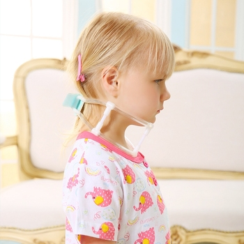 Children's neck guard with neck orthodontic device, suitable for infants and children with neck and head contortion image