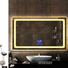 CTL300 прямоугольный настенный монитор со светодиодной подсветкой для ванной комнаты с сенсорным выключателем Smart HD противотуманное зеркало для ванной комнаты 110 В/220 В(900x1500 мм