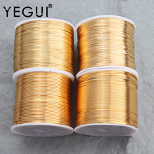 YEGUI M754,jewelry accessories,copper wire,18k gold plated,0.3 microns,jewelry making,diy bracelet necklace,one roll/lot