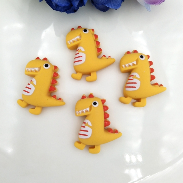 Resin Cute cartoon dinosaur Flat Back Stone Appliques Home Decor Crafts 12pcs DIY Wedding Scrapbook 5