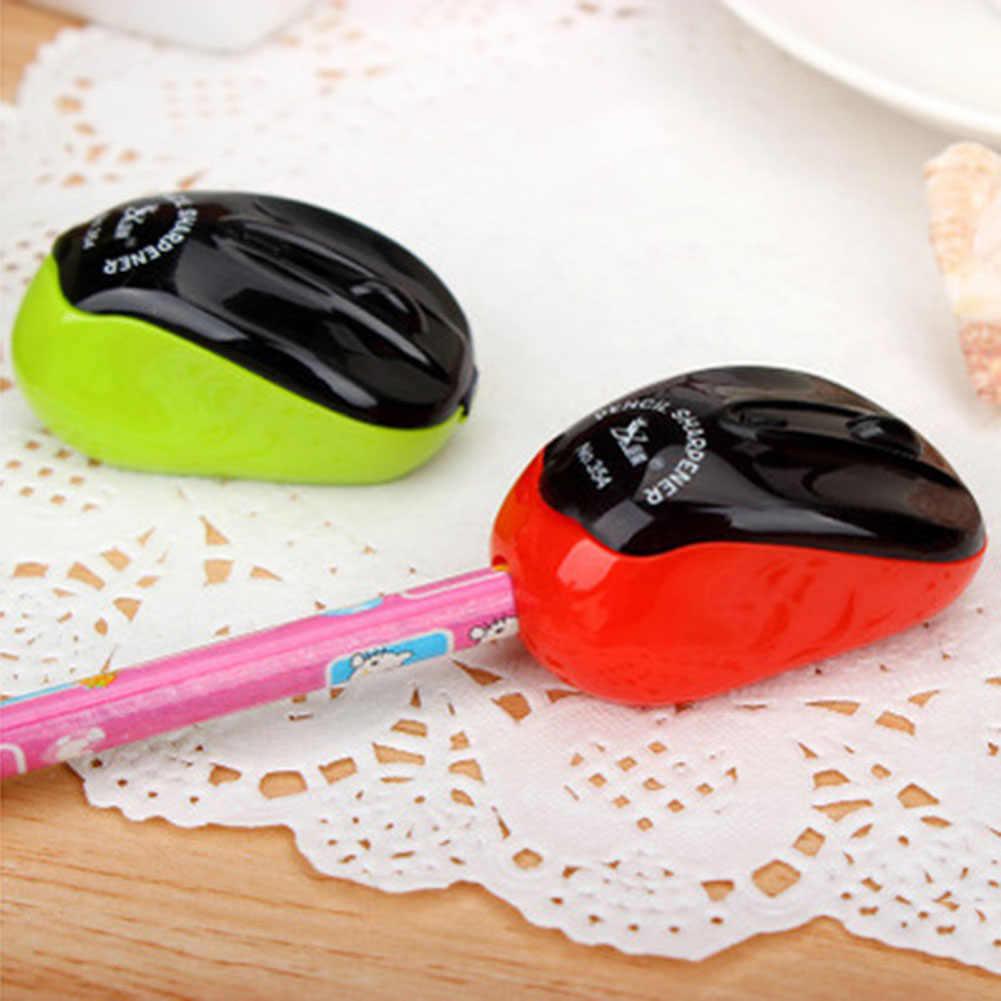 1 قطعة الميكانيكية براية أقلام القاطع سكين الكرتون المحولات بارد ماوس للأطفال هدية اللوازم المدرسية