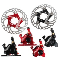 Road Bicycle Hydraulic Disc Brake Caliper Bilateral Mechanical Cable Two side Drive Oil Disc Brake with Cool Floating 140m Rotor