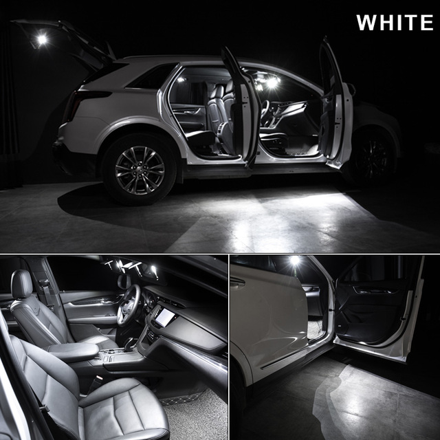 9 x White Ice Blue Error Free Car LED License Plate Bulb Package Kit For 2015-2017 Chrysler 200 Interior Reading Dome Cargo Lamp 3