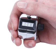 цена на 4 Digits Mechanical Counter 0-9999 Hand Tally Counter Clicker Mini Finger Clicker Handheld Manual Quantity Counting Tool