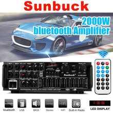 2000W 12V/220V 5.0 wzmacniacz kompatybilny z Bluetooth Audio HiFi wzmacniacz z subwooferem USB karta SD Radio FM dla domu Karaoke