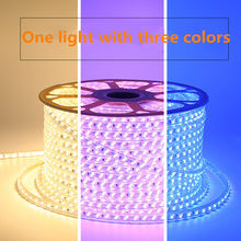 Dimmable LED Strip Warna Berubah 5730 120 LED/M Lampu LED Tape Tiga Warna Berubah LED Rope Light(China)