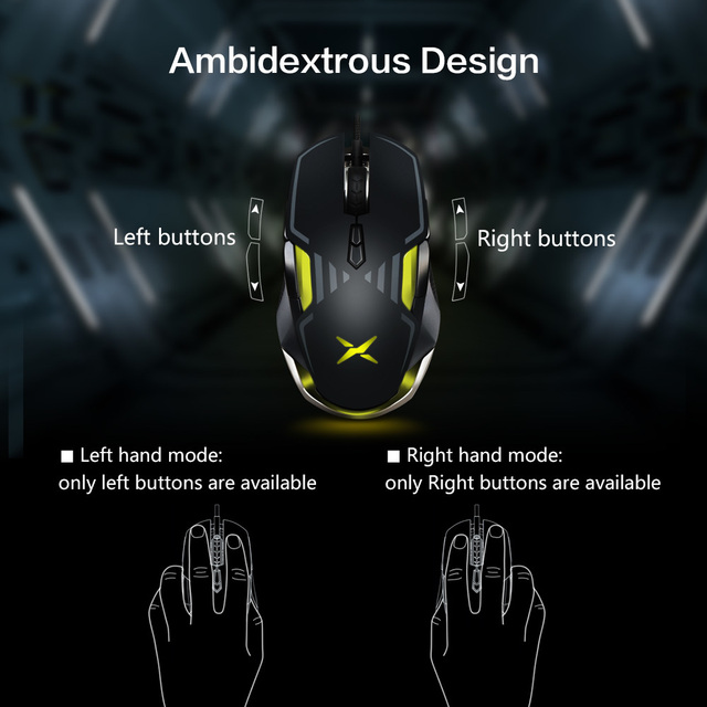 Delux M628 Computer Gaming Mouse Optical Ergonomic RGB Backlit Wired Computer Mause 16000 DPI 9 Buttons PC Mac Gamer Office Mice 3