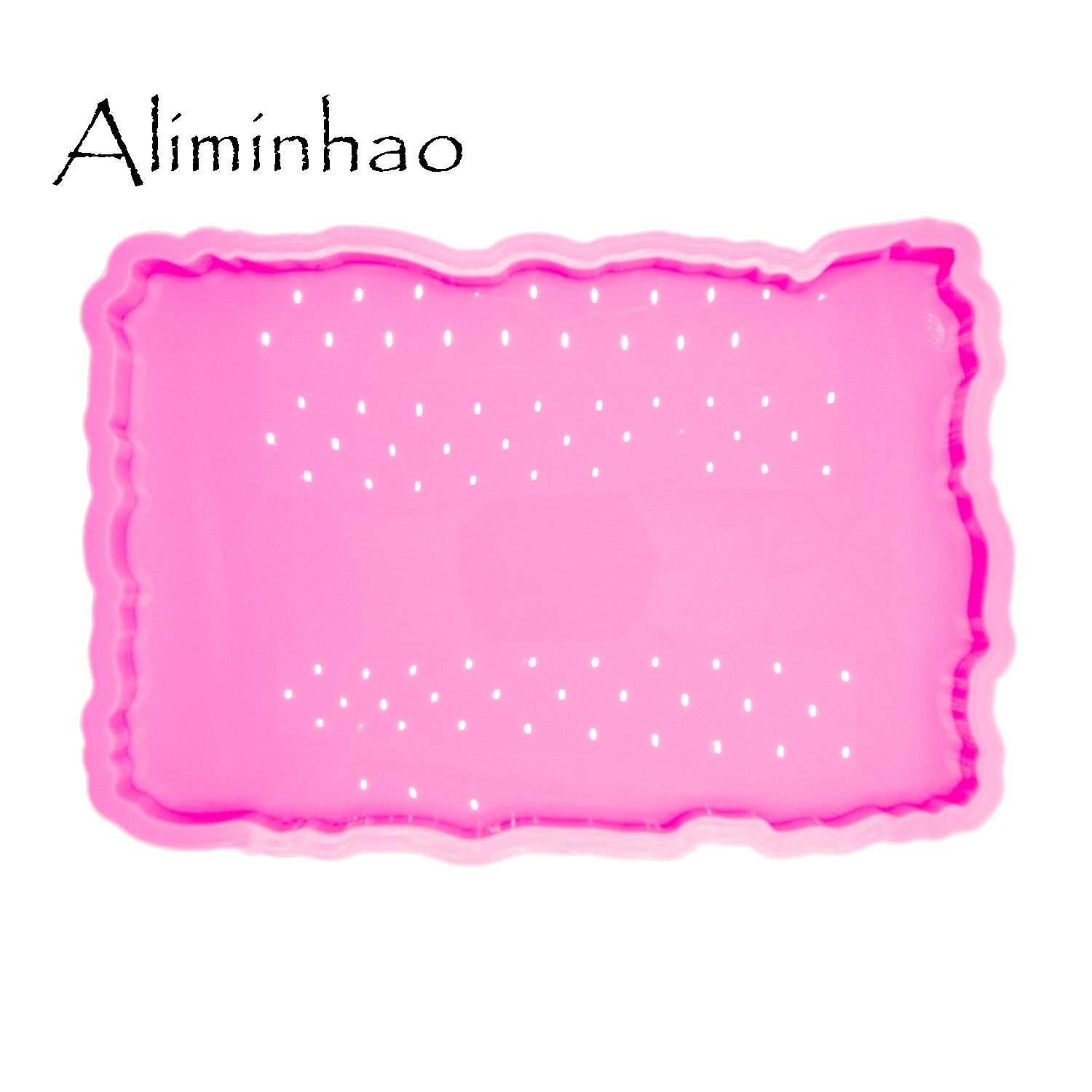 DY0469 Shiny High Quality 8*12.2inch Square Shape Silicone Molds Epoxy Resin DIY Geode Coasters Mould For Trays