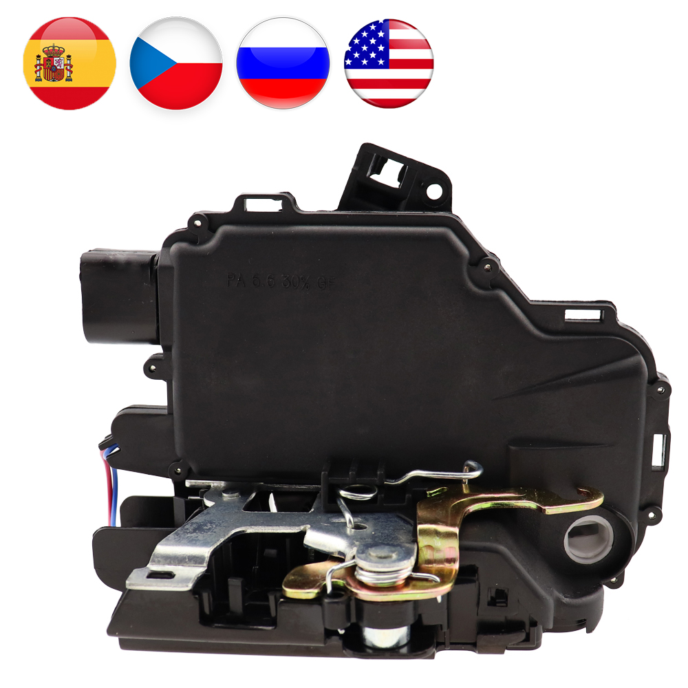 آلية تشغيل قفل الباب لـ VW/GOLF/BORA/PASSAT/LUPO MK4 جميع الجوانب الأمامية الخلفية اليسرى اليمنى UQ02 3BD837016A 3B1837016A