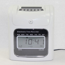 Electronic time clock LCD / clock face paper card punching machine Paper card attendance machine With built-in battery