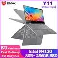 BMAX Y11 Laptop 11,6 Zoll Quad Core Intel N4120 1920*1080 IPS Bildschirm 8GB LPDDR4 RAM 256GB SSD ROM Notebook Windows10