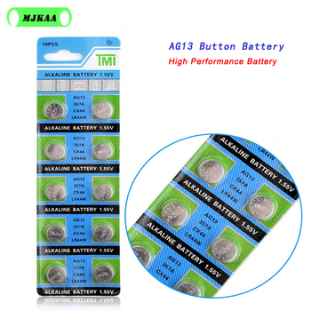 10PCS cheap AG 13 ag13 battery LR44 lr 44 357A S76E G13 button cell battery 1.55V Alkaline Battery 22 Coin watch battery image