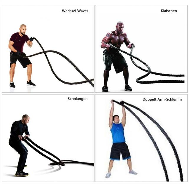 12M 15M Heavy Jump Rope Skipping Rope Workout Battle Ropes for Men Women Total Body Workouts Power Training Strength Building