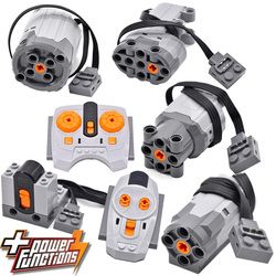 Technical Power Function Extension Wire Servo Motor IR Remote Control Receiver Battery Box legoinglys technic creator technician