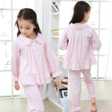 Осенние детские пижамные комплекты пижамы для девочек, домашняя одежда из хлопка с длинными рукавами одежда для маленьких девочек детская одежда для сна Высокое качество