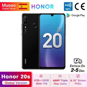 Перейти на Алиэкспресс и купить Мобильный телефон Honor 20 S 20 S, новая глобальная версия, 6 ГБ 128 ГБ, 6,15 дюймэкран Dewdrop, 24-мегапиксельная фронтальная камера, 48-мегапиксельная Тройная ...