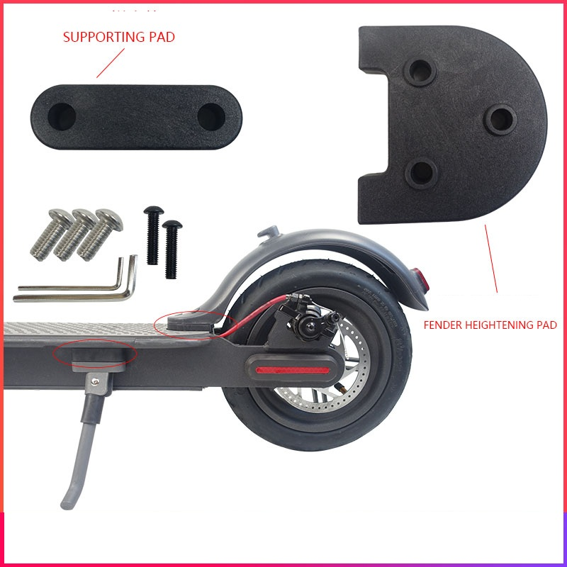 For <font><b>Xiaomi</b></font> <font><b>M365</b></font> <font><b>Pro</b></font> Rear Mudguard Spacer Kickstand Spacer Upgrade 3D Printed Modification for <font><b>M365</b></font> <font><b>Wheel</b></font> Kit/Foot Support image