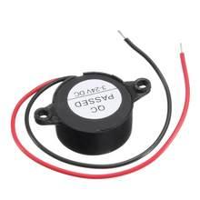 Preto 3-24v piezo alarme eletrônico de campainha alta-decibel 95db som contínuo 12v furo de montagem bip contínuo acessórios do carro