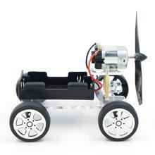 Diy carro de energia eólica montar ciência modelo materiais kits projetos escolares ensinar crianças brinquedos educativos puzzle equipamentos brinquedos