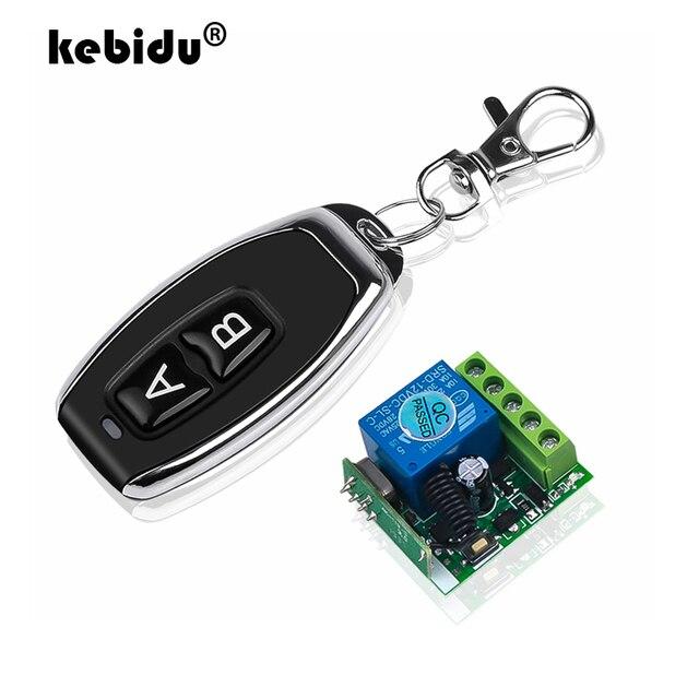 Kebidu 433 mhz sem fio interruptor de controle remoto 12v 10a 1ch relé módulo receptor rf transmissor com 433 mhz controles remotos