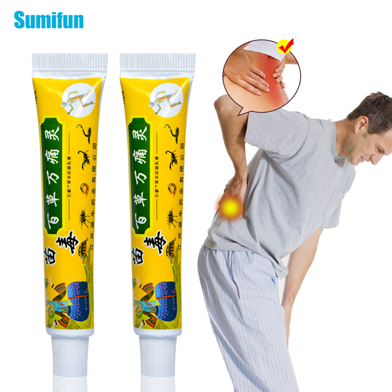 1pcs Chinese Scorpion Analgesic Cream Arthritis Herbal Ointment Muscle Sprain Knee Back Rheumatism Balm Medical Plaster P1076