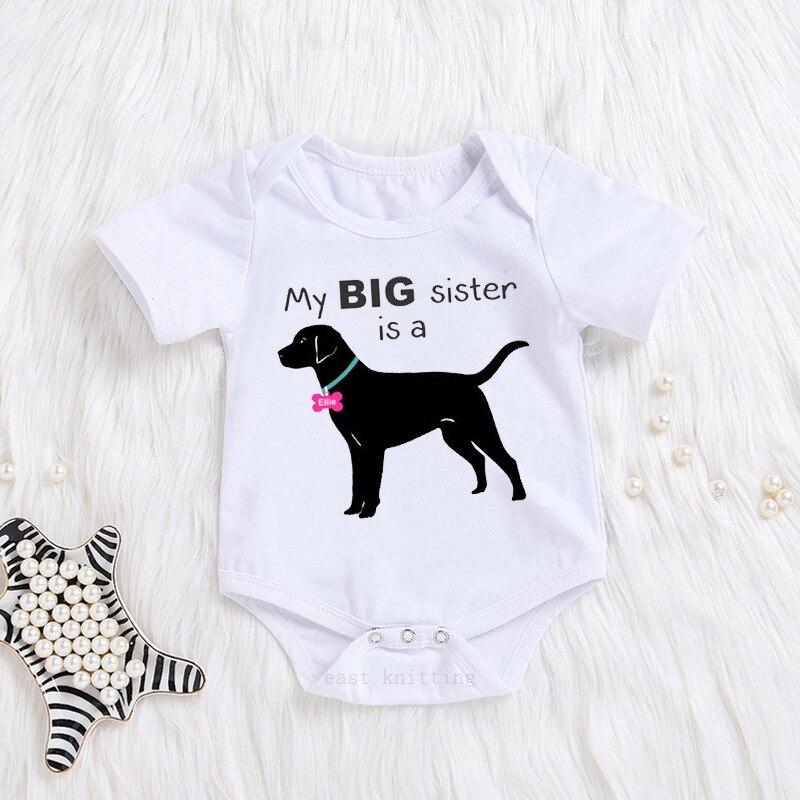 I Love My Black Labrador Retriever Infant 100/% Cotton Jumpsuits White
