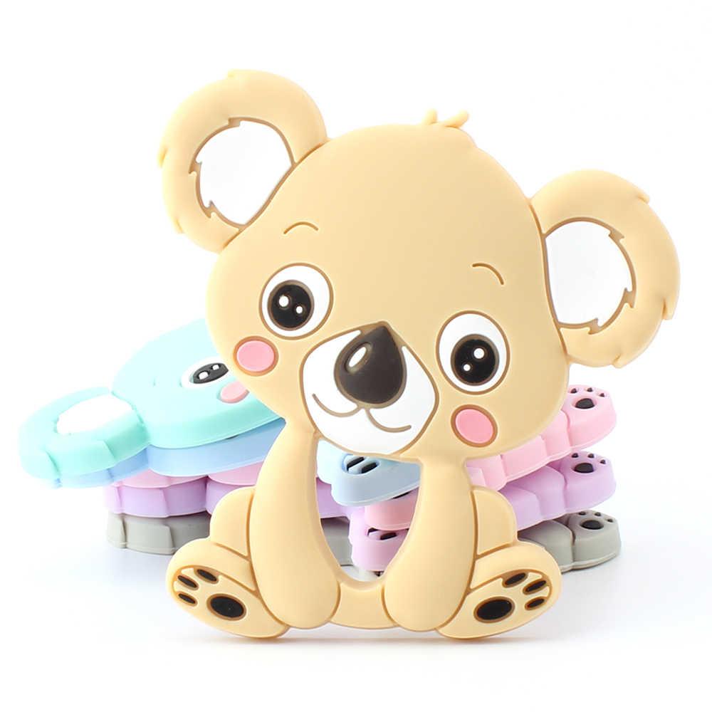 Houden & Grow 1 Pcs Baby Dier Siliconen Bijtringen Hond Dinosaurus Koala Baby Tandjes Product Accessoires Voor Fopspeen Kettingen Bpa gratis